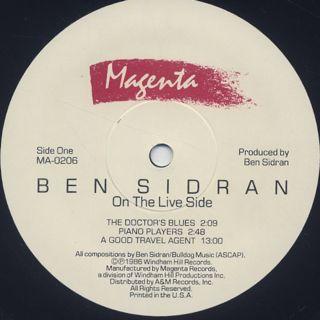 Ben Sidran / On The Live Side label