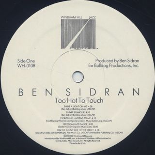 Ben Sidran / Too Hot To Touch label