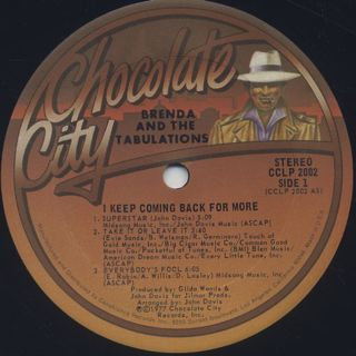 Brenda and The Tabulations / I Keep Coming Back For More label