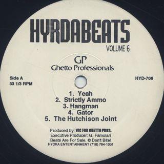 Ghetto Professionals & DJ Fusion / Hydra Beats Volume 6 back