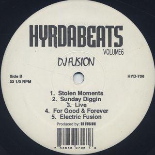 Ghetto Professionals & DJ Fusion / Hydra Beats Volume 6 label