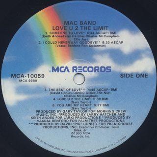 Mac Band / Love U 2 The Limit label