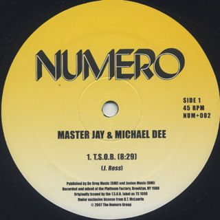 Master Jay & Michael Dee / T.S.O.B. back