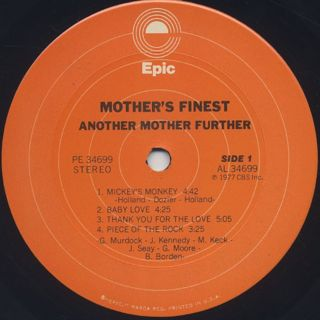 Mother's Finest / Another Mother Further label