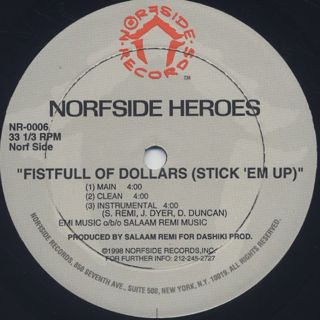 Norfside Heroes / Fistfull Of Dollars (Stick 'Em Up) back