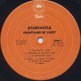 Starcastle / Fountains Of Light label