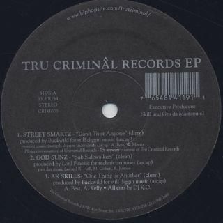 V.A. / Tru Criminal Records EP label