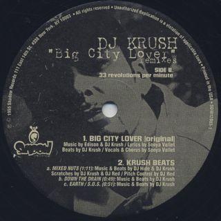 DJ Krush / Big City Lover Remixes label