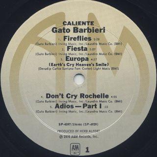 Gato Barbieri / Caliente! label