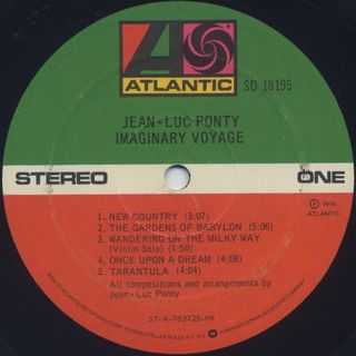 Jean-Luc Ponty / Imaginary Voyage label