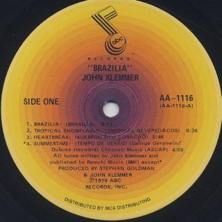 John Klemmer / Brazilia label