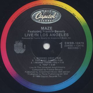 Maze Featuring Frankie Beverly / Live In Los Angels label