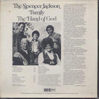 Spencer Jackson Family / The Hand Of God back