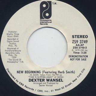 Dexter Wansel / New Beginning c/w Time Is Slipping Away