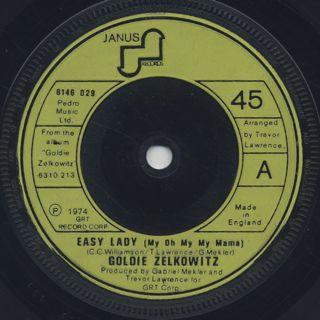 Goldie Zelkowitz / Easy Lady c/w Get It Back