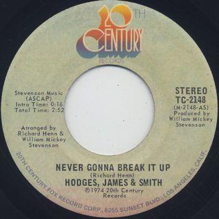 Hodges, James & Smith / Never Gonna Break It Up