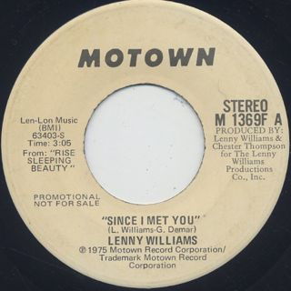 Lenny Williams / Since I Met You