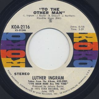Luther Ingram / To The Other Man