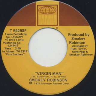 Smokey Robinson / Virgin Man c/w Fulfill Your Need