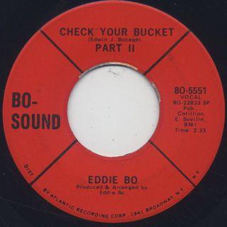 Eddie Bo / Check Your Bucket back