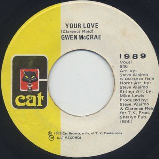 Gwen McCrae / For Your Love c/w Your Love