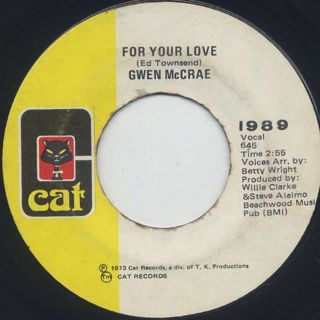 Gwen McCrae / For Your Love c/w Your Love back