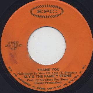 Sly And The Family Stone / Thank you c/w Everybody Is A Star