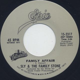 Sly and The Family Stone / Family Affair c/w Runnin' Away
