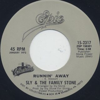 Sly and The Family Stone / Family Affair c/w Runnin' Away back