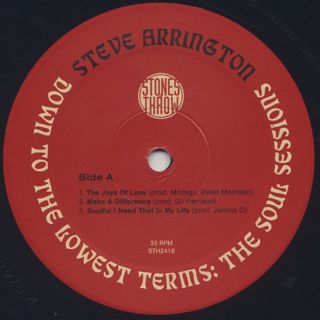Steve Arrington / Down To The Lowest Terms: The Soul Sessions label