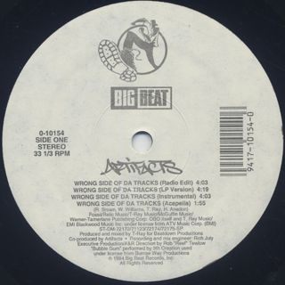 Artifacts / Wrong Side Of Da Tracks label