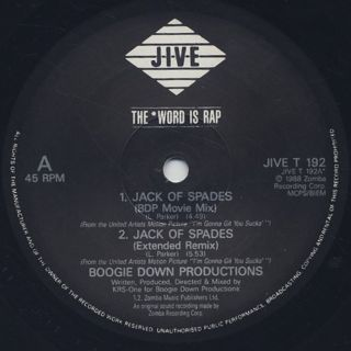 Boogie Down Productions / Jack Of Spades label