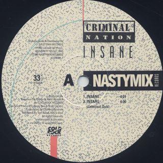 Criminal Nation / Insane label