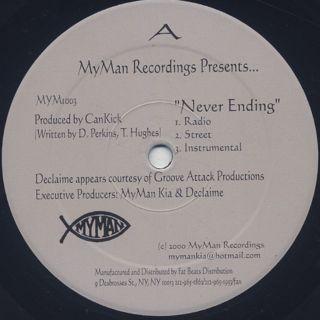 Declaime / Never Ending label