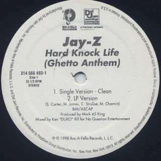 Jay-Z / Hard Knock Life (Ghetto Anthem) back