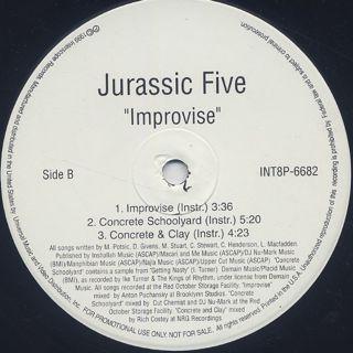 Jurassic 5 / Improvise label