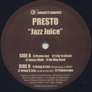 Presto / Jazz Juice