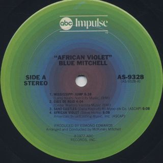 Blue Mitchell / African Violet label