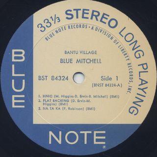 Blue Mitchell / Bantu Village label