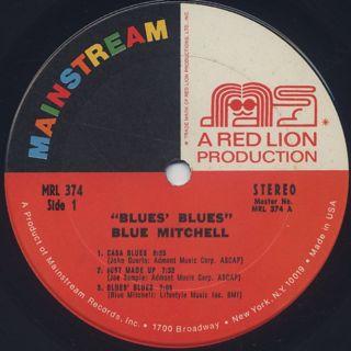Blue Mitchell / Blue's Blues label