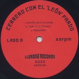 Cerrero / Canción para un amigo label