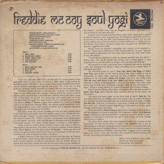 Freddie McCoy / Soul Yogi back