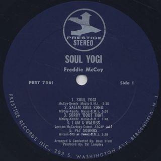 Freddie McCoy / Soul Yogi label