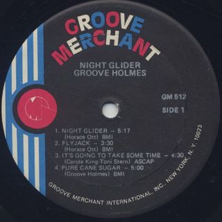 Groove Holmes / Night Glider label