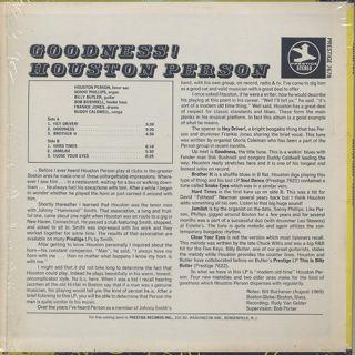 Houston Person / Goodness! back