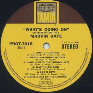 Marvin Gaye / What's Going On (Original Detroit Mix) label