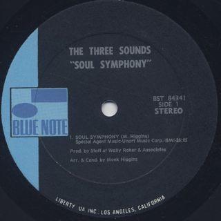 Three Sounds / Soul Symphony label