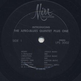 Afro Blues Quintet Plus One / Introducing label