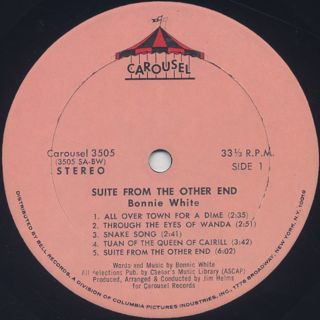 Bonnie White / Suite From The Other End label
