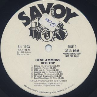 Gene Ammons / Red Top label